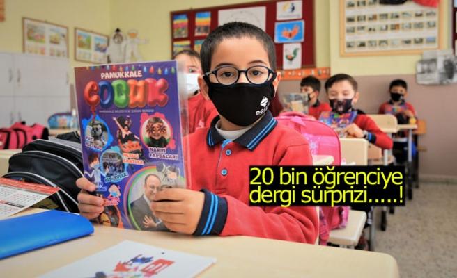 20 bin öğrenciye dergi sürprizi