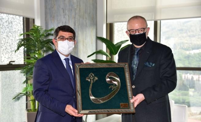 Başkan Ergün'e yeni bina için 'Hayırlı olsun' ziyareti