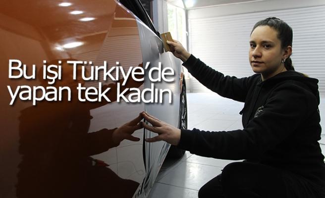 Bu işi Türkiye'de yapan tek kadın!