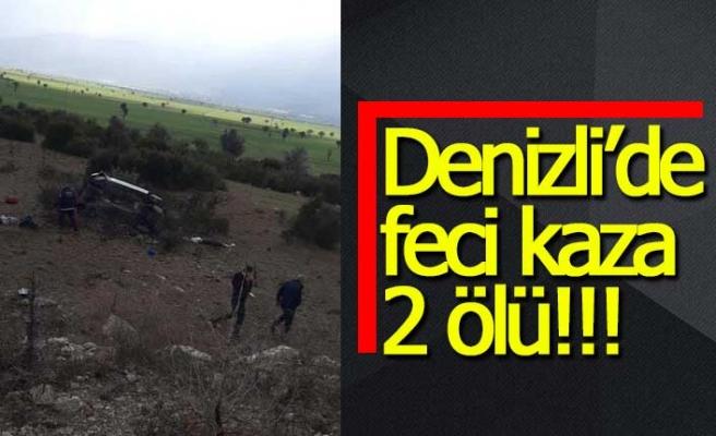 Denizli'de trafik kazası; 2 ölü