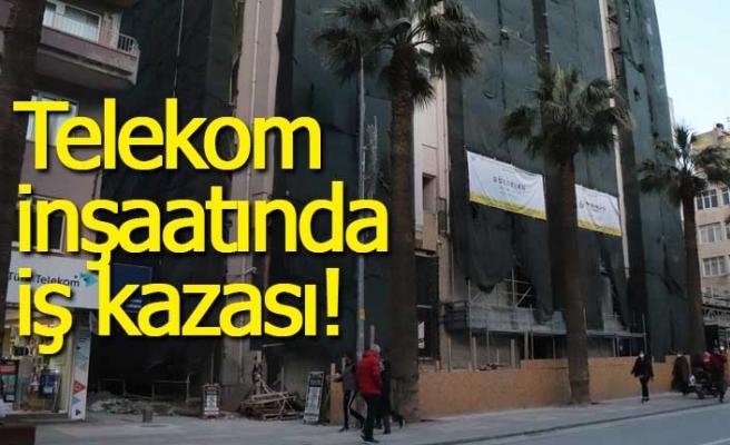Telekom binasının inşaatında iş kazası