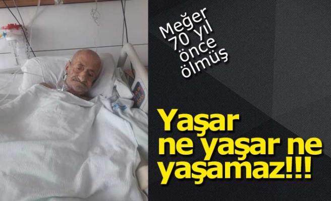 Yaşlı adam ikinci kez öldü!