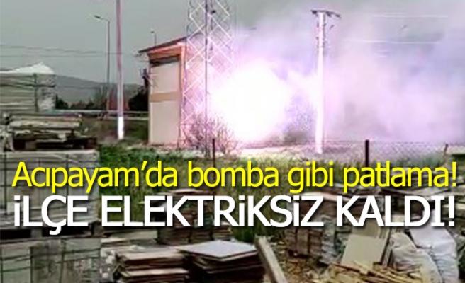 Acıpayam'da bomba gibi patlama!