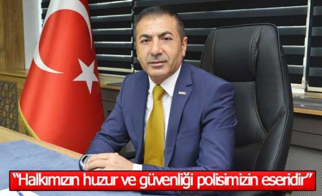 """Başkan Erdoğan, """"Halkımızın huzur ve güvenliği, kahraman polisimizin eseridir"""""""