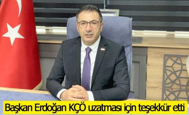 Başkan Erdoğan KÇÖ uzatması için teşekkür etti