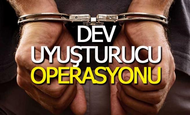 Denizli'de dev uyuşturucu operasyonu; 29 gözaltı
