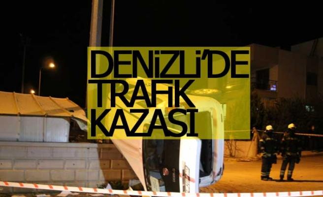 Denizli'de trafik kazası; 1 ölü