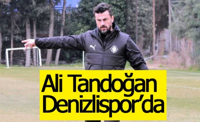 Denizlispor'un yeni teknik direktörü Ali Tandoğan oldu