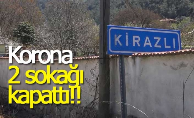 Korona 2 sokağı kapattı!!