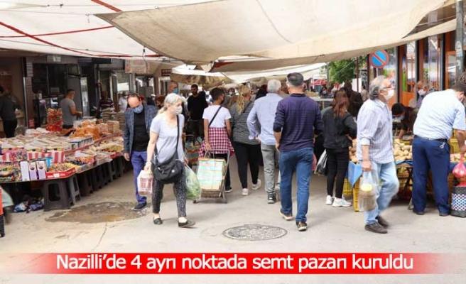 Nazilli'de 4 ayrı noktada semt pazarı kuruldu