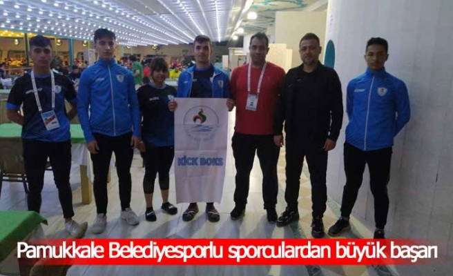 Pamukkale Belediyesporlu sporculardan büyük başarı