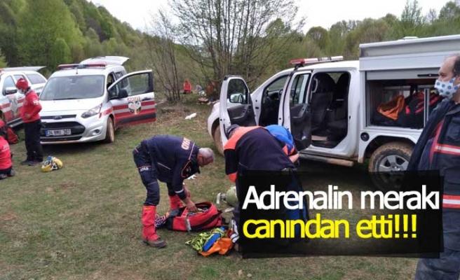 Adrenalin merakı canından etti!!!