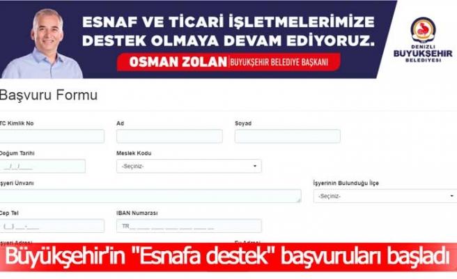 """Büyükşehir'in """"10.000 esnafa destek"""" başvuruları başladı"""