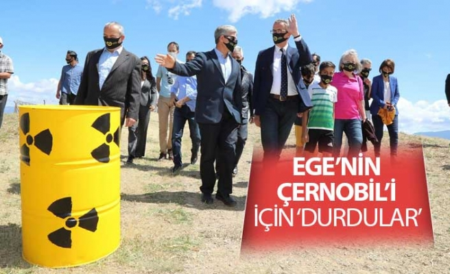 Ege'nin Çernobil'i için 'Durdular'