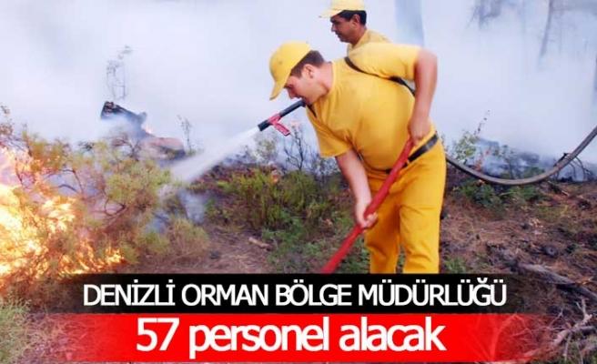 Orman Bölge Müdürlüğü'ne 57 personel alınacak