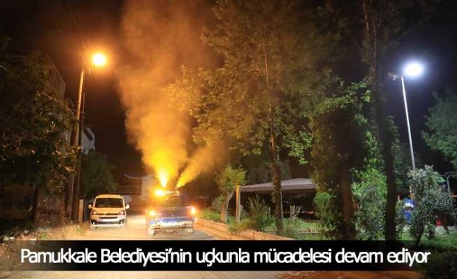 Pamukkale Belediyesi'nin uçkunla mücadelesi devam ediyor