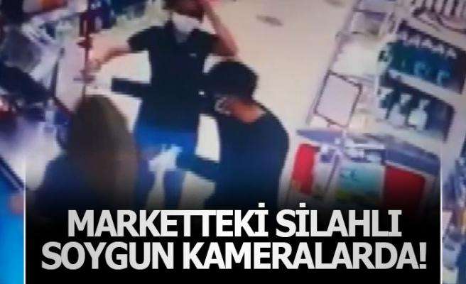 Marketteki silahlı soygun kameralarda!