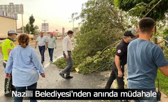 Nazilli Belediyesi'nden anında müdahale