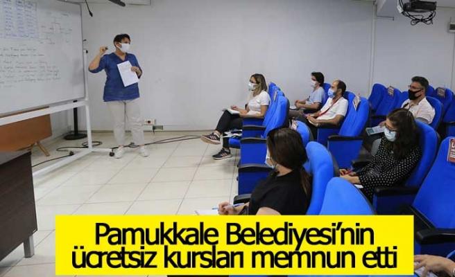 Pamukkale Belediyesi'nin ücretsiz kursları memnun etti