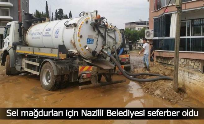 Sel mağdurları için Nazilli Belediyesi seferber oldu