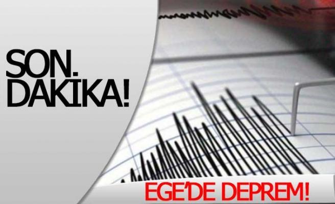 SON DAKİKA! EGE'DE DEPREM