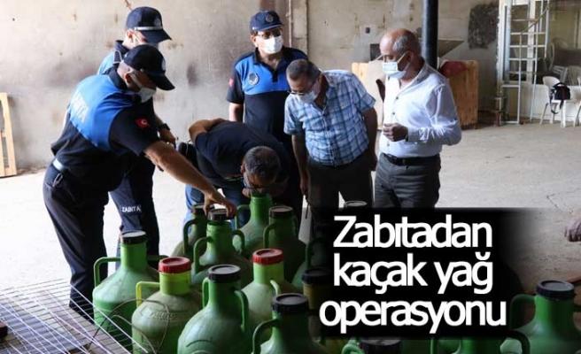 Zabıtadan kaçak yağ operasyonu