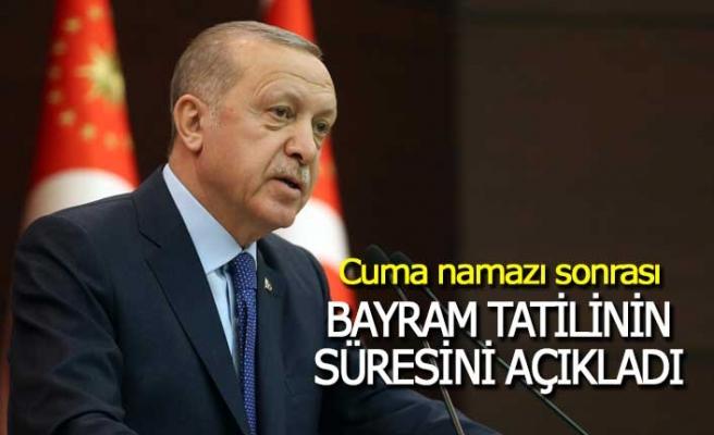 Cumhurbaşkanı Kurban Bayramı tatili süresini açıkladı