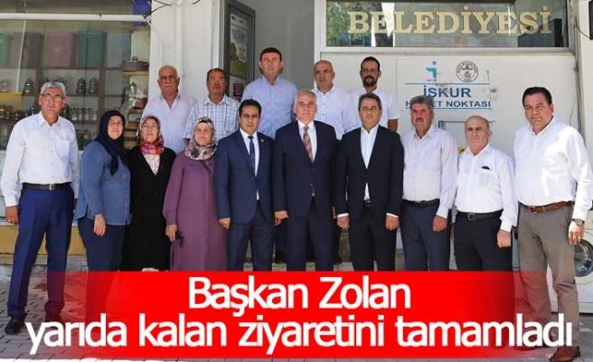 Başkan Zolan, yangın sebebiyle yarıda kalan ziyaretini tamamladı