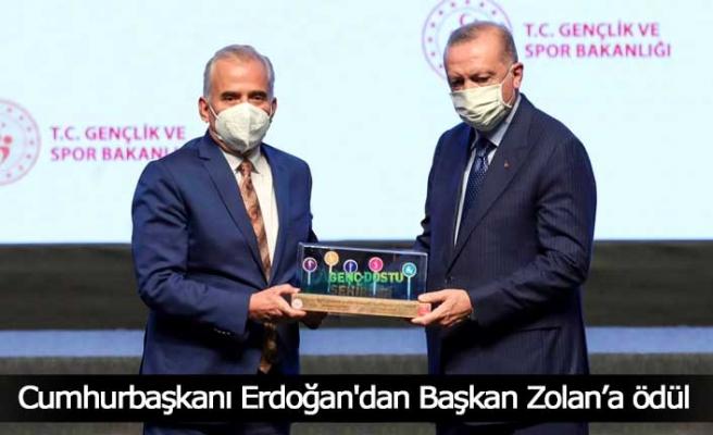 Cumhurbaşkanı Erdoğan'dan Başkan Zolan'a ödül
