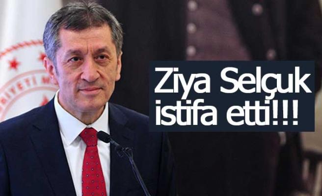 Ziya Selçuk istifa etti