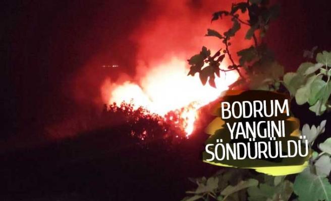 Bodrum yangını söndürüldü