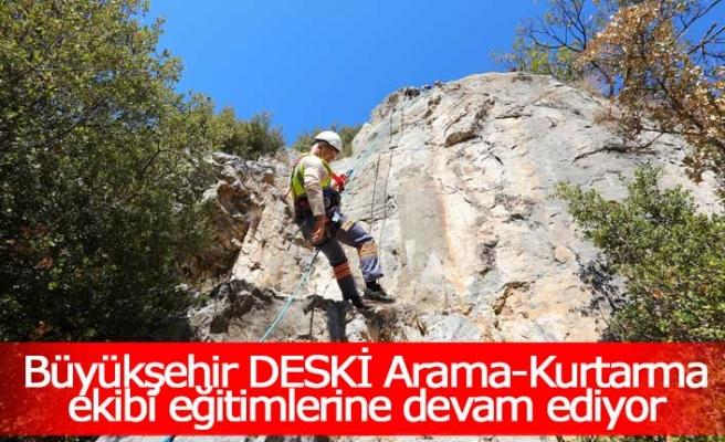 Büyükşehir DESKİ Arama-Kurtarma ekibi eğitimlerine devam ediyor