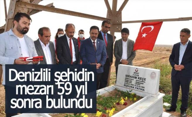 Denizlili şehidin mezarı 59 yıl sonra bulundu