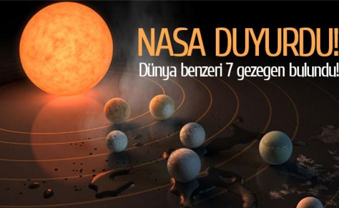 Dünya benzeri 7 gezegen bulundu!