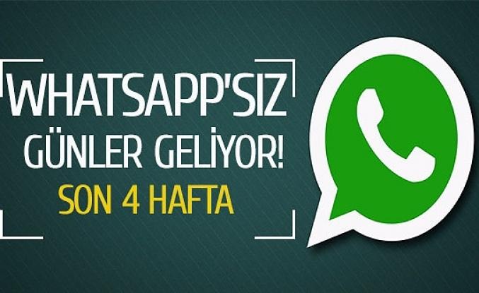Whatsapp'sız günler geliyor!
