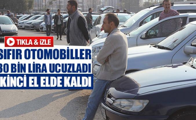 Sıfır otomobiller 30 bin lira ucuzladı, ikinci el elde kaldı