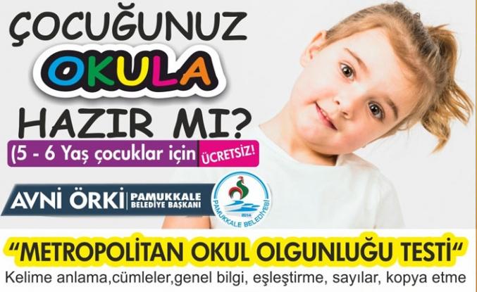 Pamukkale Belediyesi'nden ücretsiz test