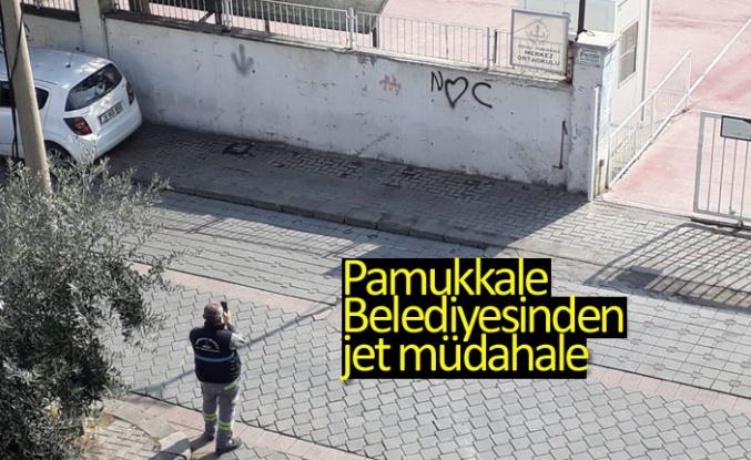 Pamukkale Belediyesinden jet müdahale