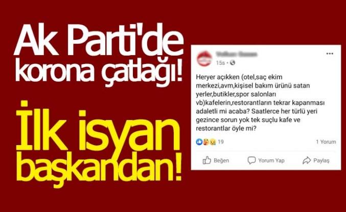 AK Parti'de korona çatlağı!