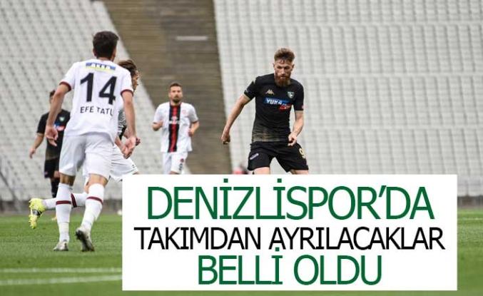 Denizlispor'da takımdan ayrılacaklar belli oldu