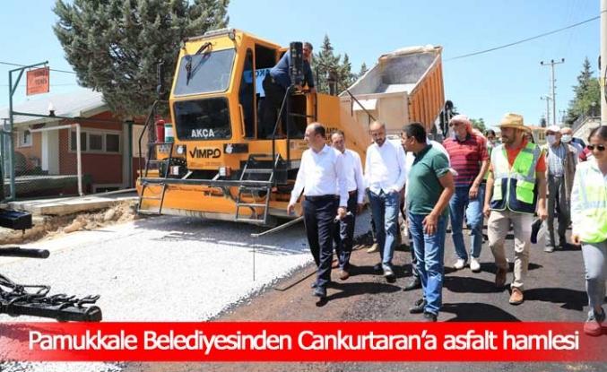 Pamukkale Belediyesinden Cankurtaran'a asfalt hamlesi