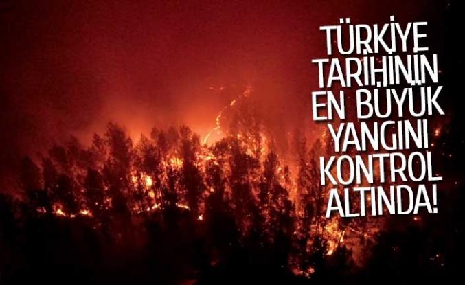 Türkiye tarihinin en büyük yangını kontrol altına alındı