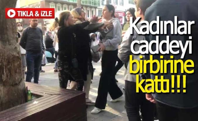 Kadınlar caddeyi birbirine kattı!!!