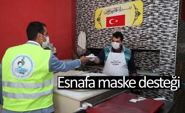 Esnafa maske desteği