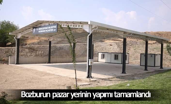 Bozburun pazar yerinin yapımı tamamlandı