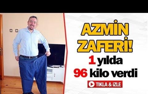 Azmin zaferi! 1 yılda 96 kilo verdi