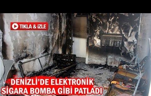 Denizli'de elektronik sigara bomba gibi patladı