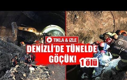 Denizli'de tünelde göçük!  1 ölü