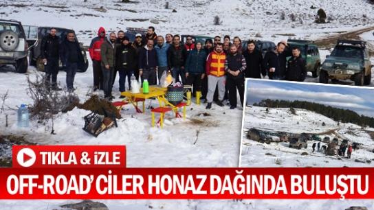 OFF-ROAD'CİLER HONAZ DAĞINDA BULUŞTU