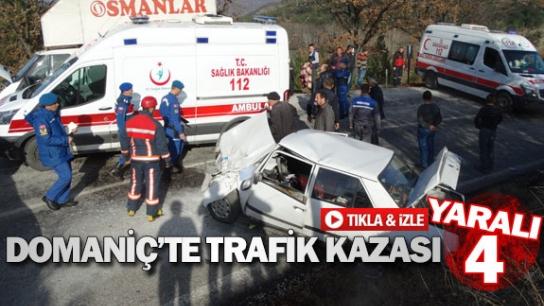 Domaniç'te trafik kazası: 4 yaralı